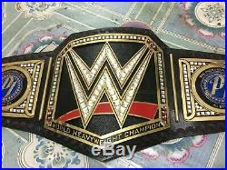 WWE AJ Styles World Heavyweight Championship Wrestling Leather Belt Adult Size