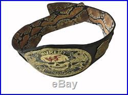 WWE Smoking Skull World Heavyweight Wrestling Championship Belt. SNAKE SKIN BACK