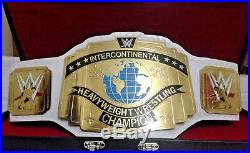 WWE White Intercontinental Championship Title belt (4mm plates)