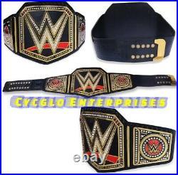 WWE World Championship Belt Chrome Leather Adult Size Replica