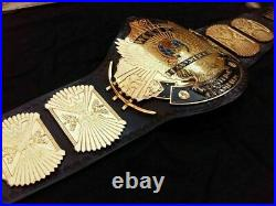 WWF Classic Gold Winged Eagle Heavyweight Wrestling Champion Belt Adult Size