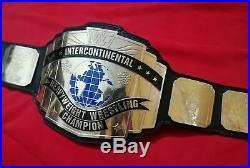 WWF Old School Intercontinental Heavyweight Championship Wrestling Leather Belt