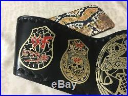 WWF Smoking Skull World Heavyweight Wrestling Championship Belt. SNAKE SKIN BACK