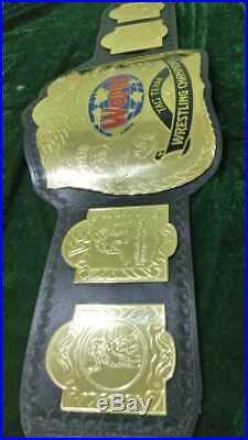 WWF Tag Team Wrestling Championship Belt. Adult Size. (2mm plates)