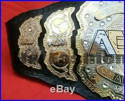 WWF World AEW Heavyweight Wrestling Championship Belt. Replica Adult Size