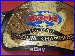 WWF World TAG TEAM CHAMPIONSHIP BELT Adult Size 2mm plates