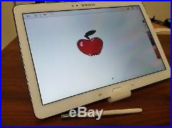 White Samsung Note 10.1 2014 Tablet With S-Pen, 32GB with Wi-Fi (SM-P600)