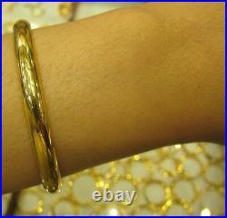 Womens Yellow 21k Solid Gold Bracelet Bangle Metal Wt. 11 Grams