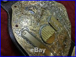 Wwf Big Gold Heavyweight Wrestling Champion Dual Plated Belt In 4mm Zinc Plate