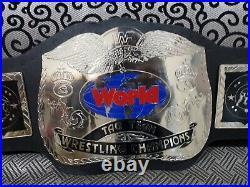Wwf World Tag Team Wrestling Championship Belt Adult Size Brass Metal Plate
